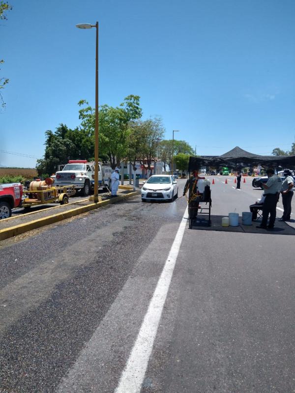 Continúan trabajos de sanitización en accesos a Culiacán