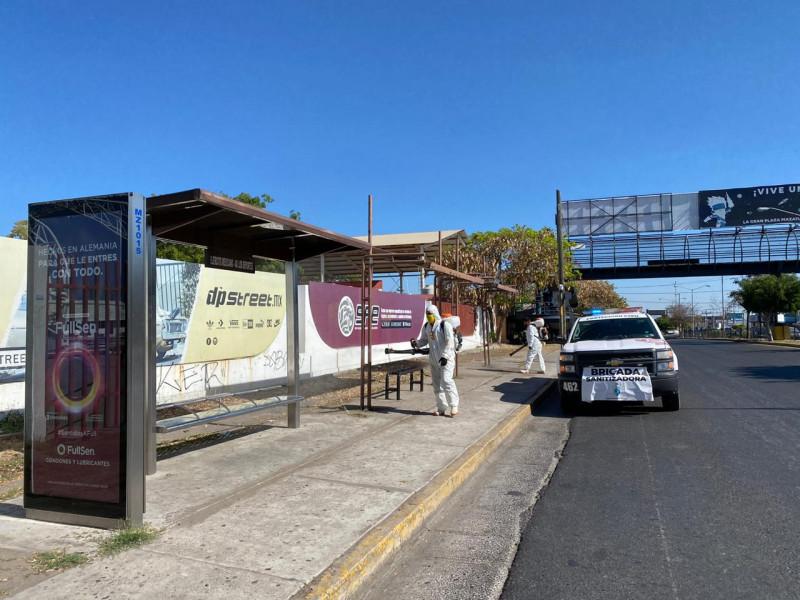 Brigadas de sanitización continúan en Mazatlán