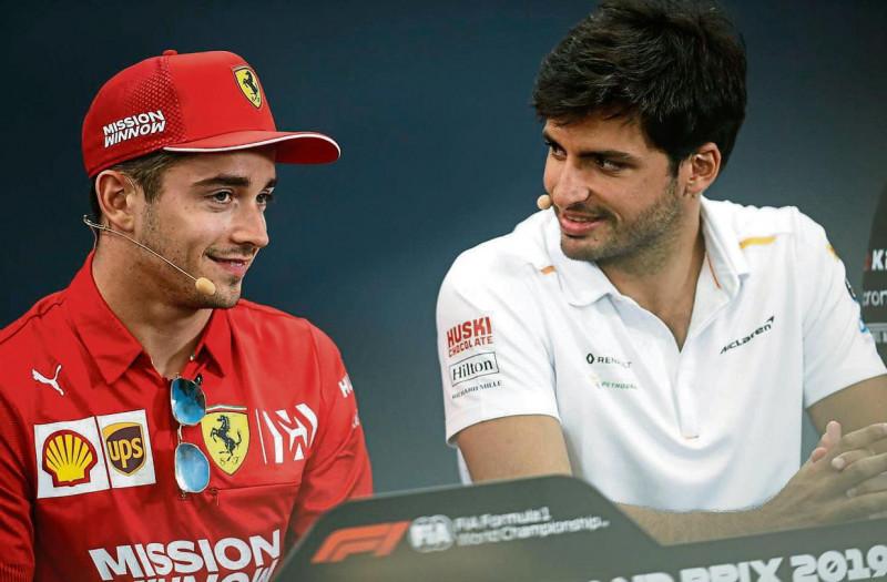 Carlos Sainz y Charles Leclerc la dupla de Ferrari para 2021
