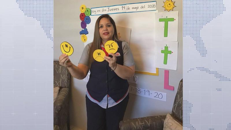 Desde hace 24 años Marcela labora como profesora