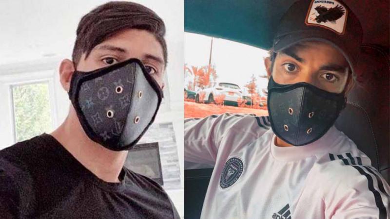Llueven críticas a Pulido y Pizarro por utilizar cubre bocas de marca