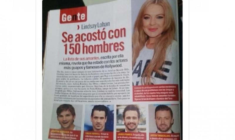 Lindsay Lohan reveló que se acostó con más de 150 hombres. 30 son famosos, entre ellos dos Jokers