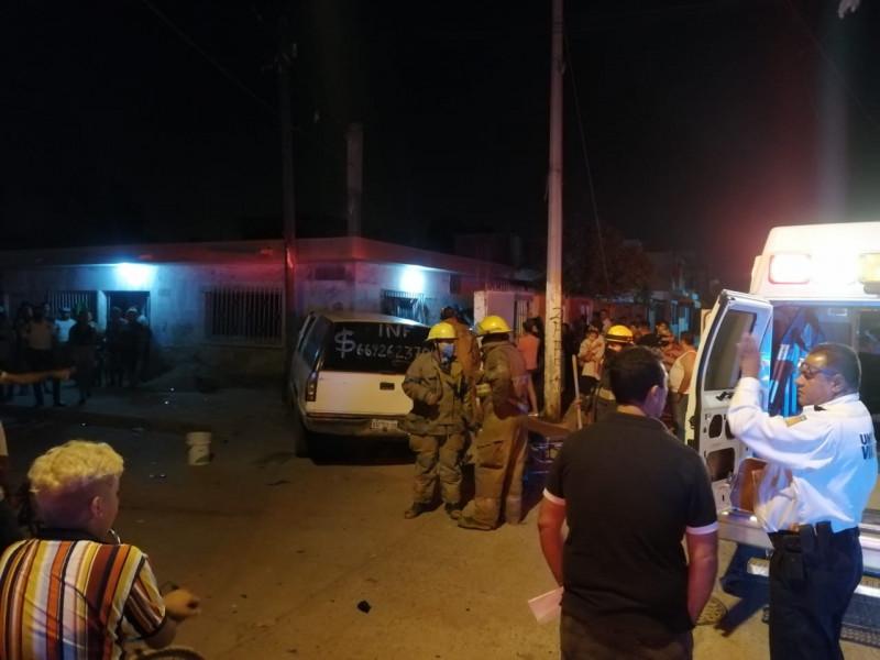 Dos personas lesionadas en un choque al sur de la ciudad