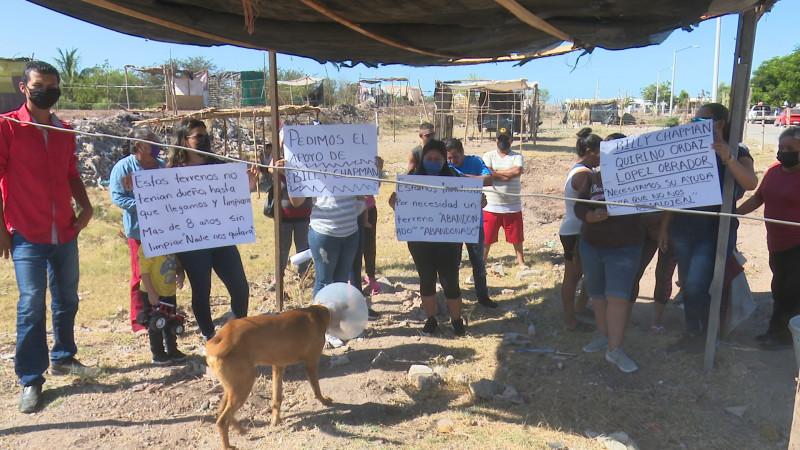 Invasores de terrenos piden apoyo para su patrimonio