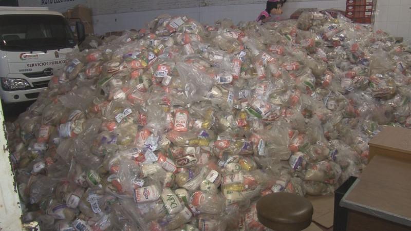 Todas las despenas alimenticias están siendo entregadas a familias de Culiacán