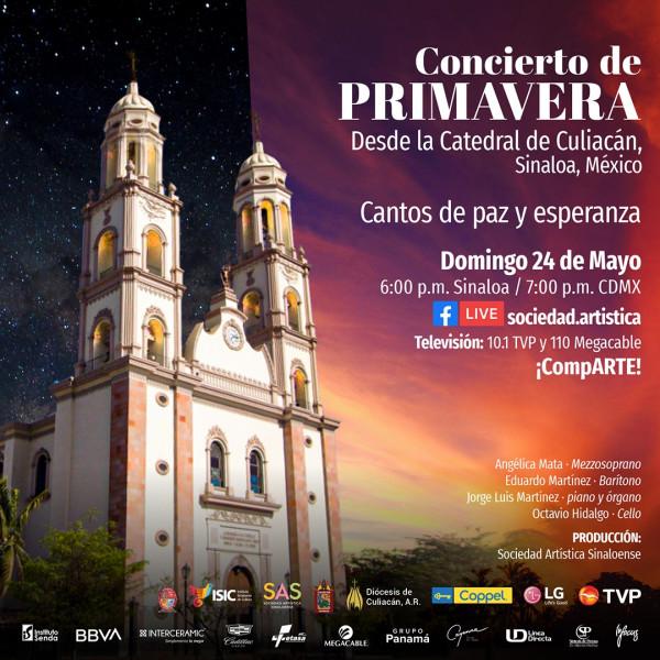 Este domingo concierto de paz y esperanza desde Culiacán
