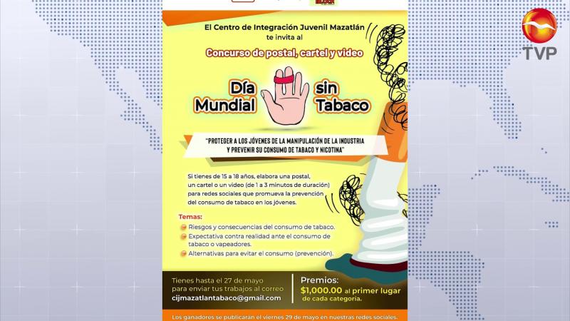 CIJ Mazatlán invita a marcha virtual contra el tabaquismo