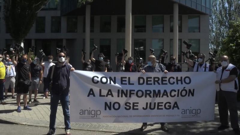 Reporteros deportivos españoles protestan en LaLiga