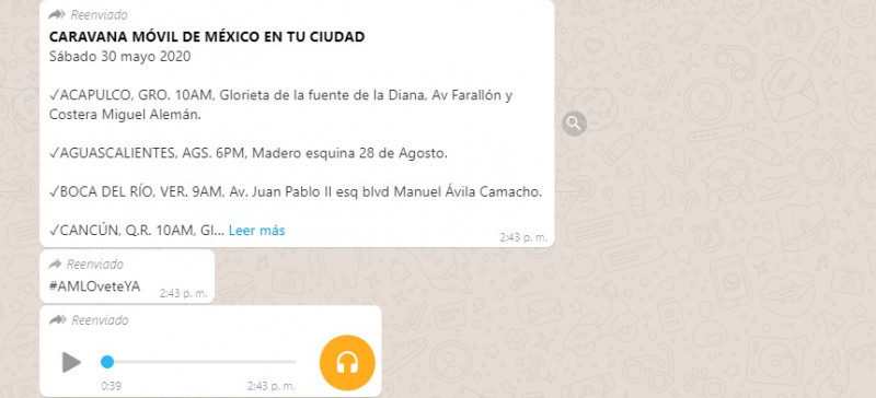 Frente Nacional Anti AMLO convoca por audio de WhatsApp a marcha nacional