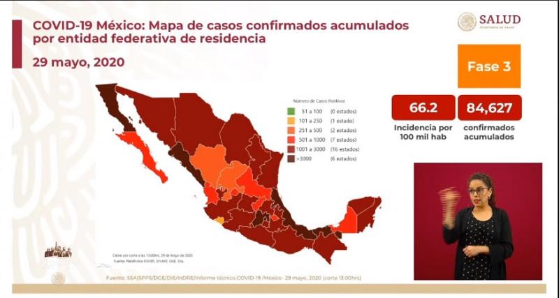 México hoy superó a China en casos acumulados confirmados de Coronavirus