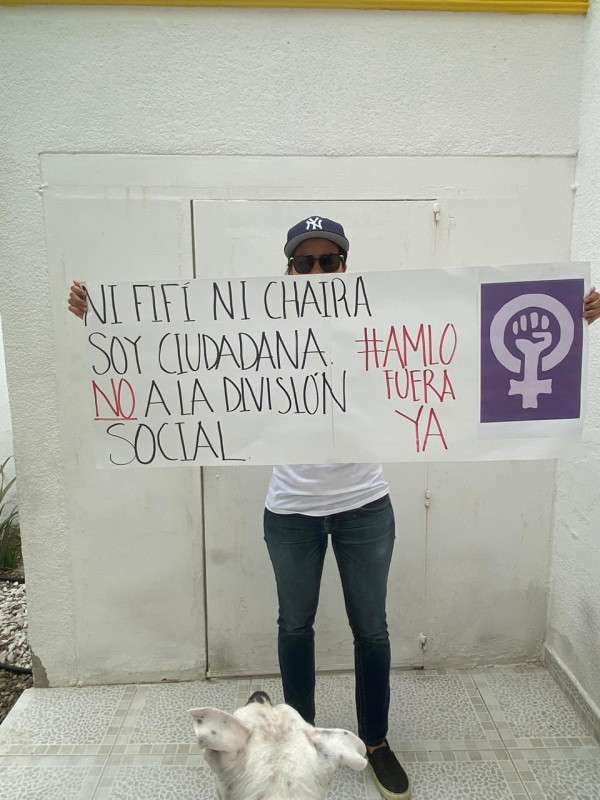 Rompen cuarentena para protestar contra AMLO
