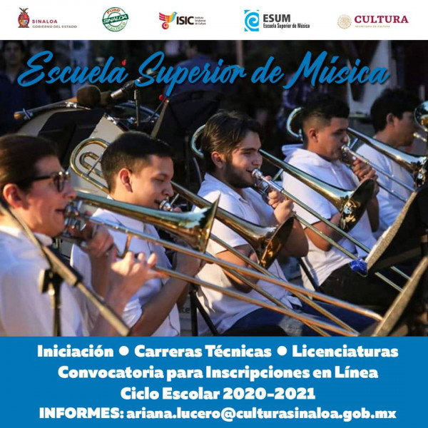 Inician Inscripciones en Línea en la Escuela Superior de Música del ISIC