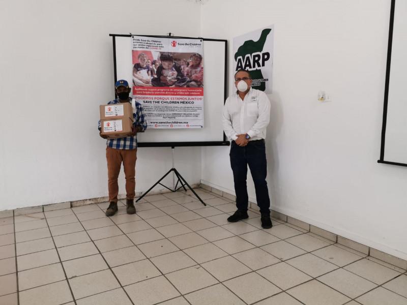 Save the Children a través de la AARP, entregan apoyos alimenticios a agricultores