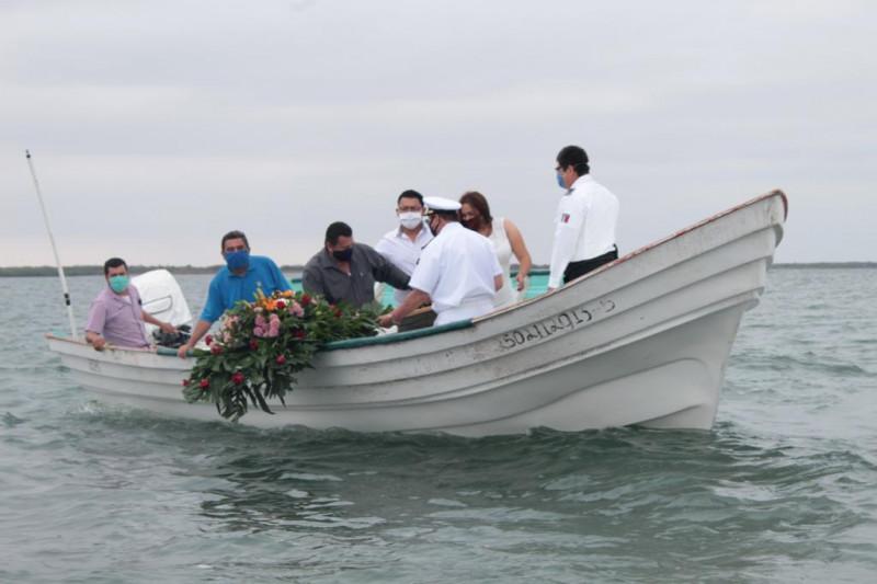 Con medidas de sana distancia, autoridades en Navolato conmemoran el Día de la Marina