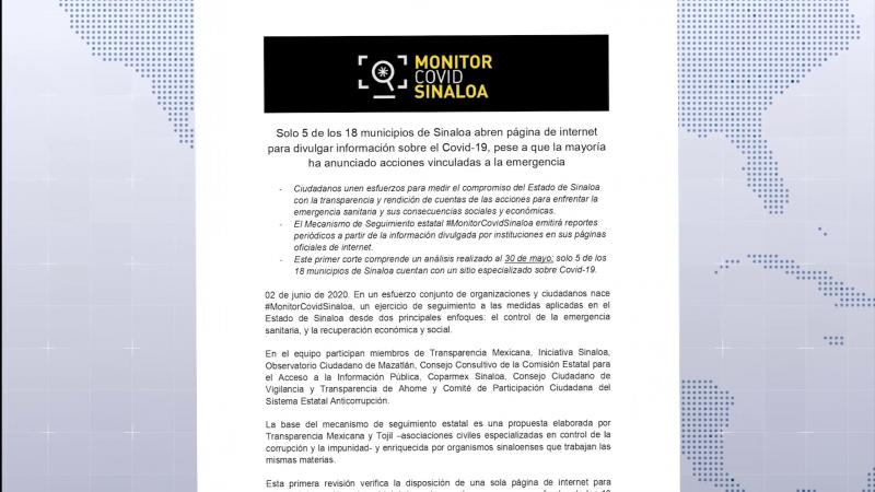 Monitor COVID Sinaloa exige transparencia