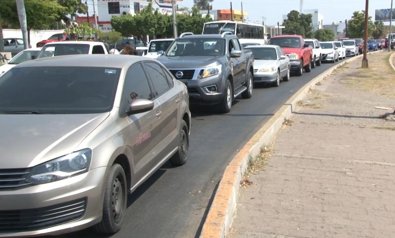 Incrementa aforo vehicular en Mazatlán