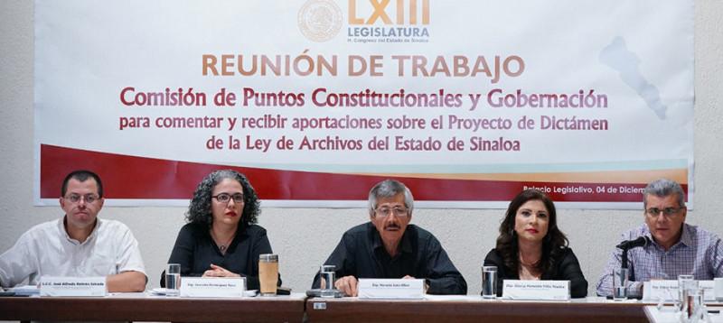 En 12 días Sinaloa deberá de tener nueva Ley de Archivos