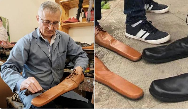Crea zapatos con puntas muy largas para que le respeten sana distancia