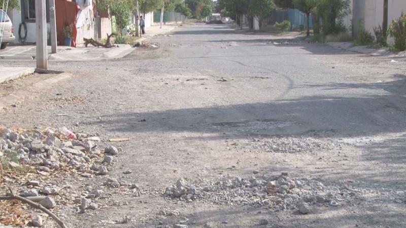 Calles destrozadas...y ahí vienen las lluvias