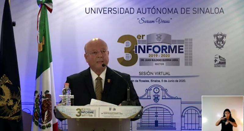 Rector de la UAS lleva a cabo su tercer informe de labores
