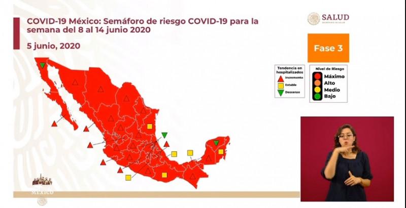Te mostramos el Semáforo de Riesgo de Covid-19 para la siguiente semana en el país y decimos que actividades recomienda puedes y no hacer