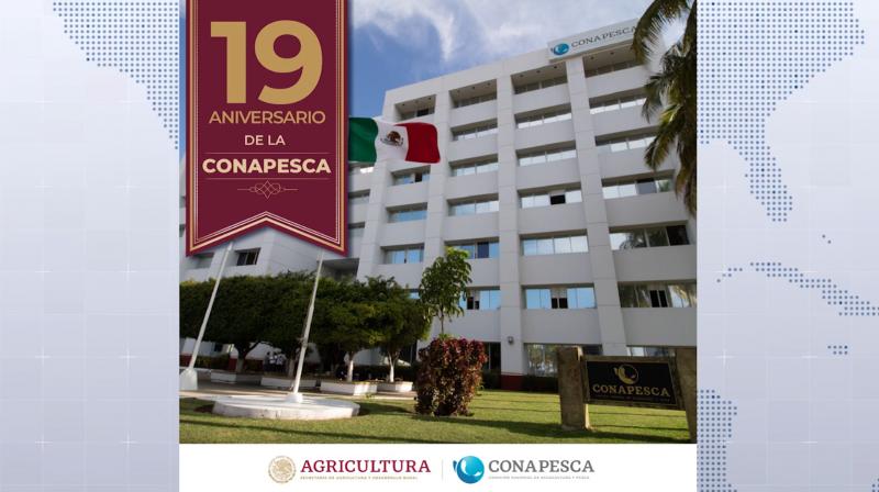 Conmemora la Comisión Nacional de Acuacultura y Pesca su XIX Aniversario