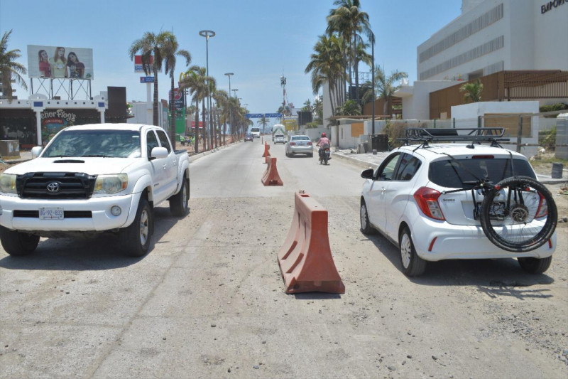 Abren tramo de la avenida Camarón- Sábalo