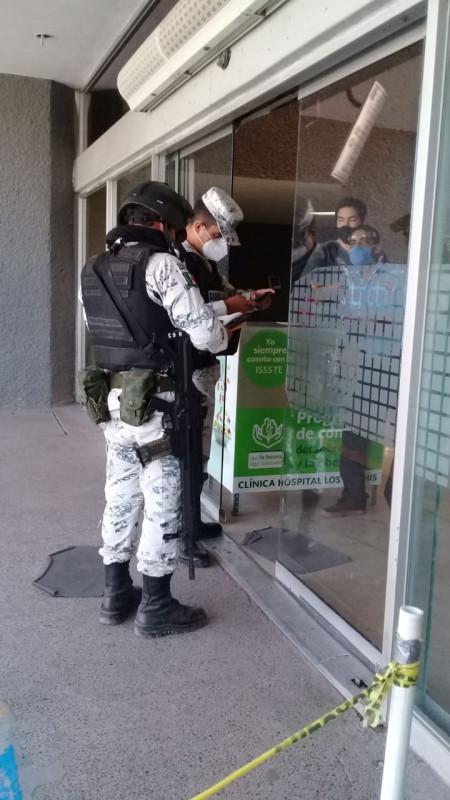 Llegan elementos de la guardia nacional al ISSSTE de Los Mochis