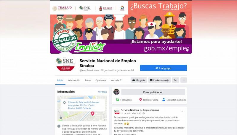 Convoca Servicio Nacional del Empleo en Sinaloa a jornadas virtuales