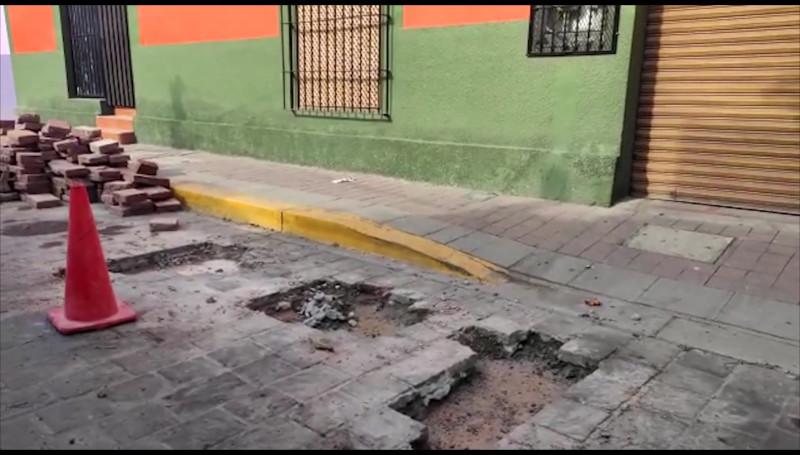 Reparan la Avenida Benito Juárez en el centro de la ciudad