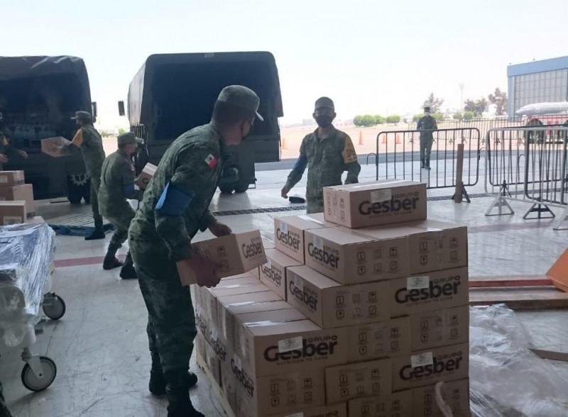 Traslada la SEDENA más  insumos médicos para Sinaloa