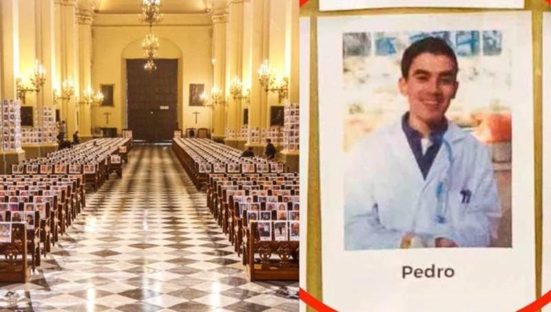 Colocan foto de actor porno en homenaje a fallecidos por Covid-19