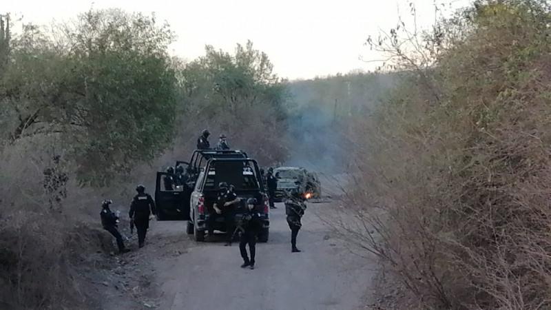 Enfrentamiento en Tepuche, decomisan armas y vehículos