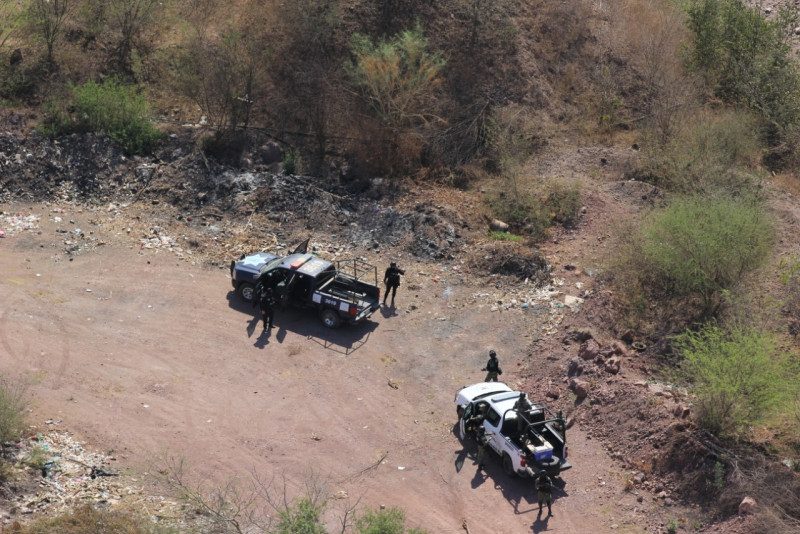 Continúan los operativos tierra y aire al norte de Culiacán