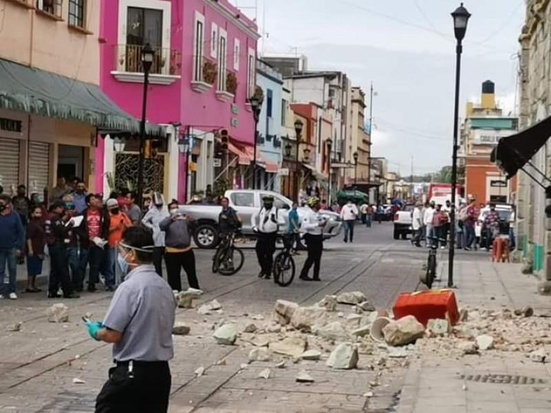 Confirman primera muerte en Oaxaca durante sismo de 7.5 grados
