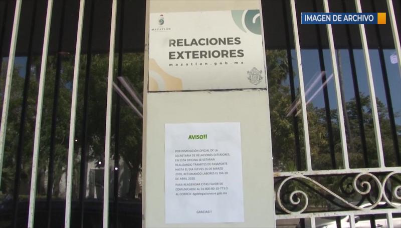 Seguirán cerradas oficinas de pasaportes en Mazatlán