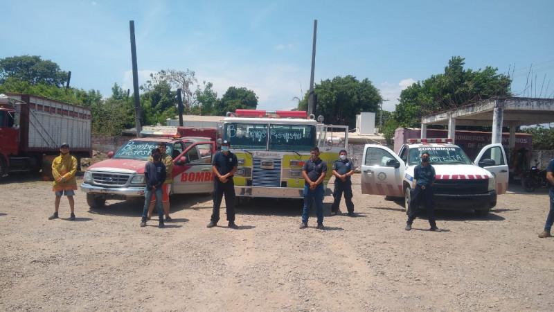 Bomberos de Escuinapa trabajan bajo protesta