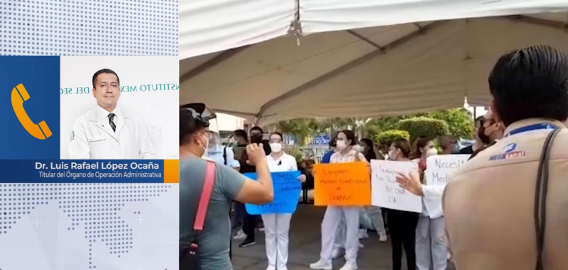 IMSS responde a manifestantes