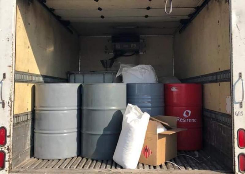 Interceptan cargamento con distintas sustancias presumiblemente utilizadas para la elaboración de drogas