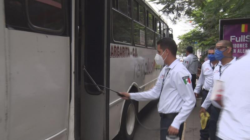 Revisan transporte público por medidas de sanidad