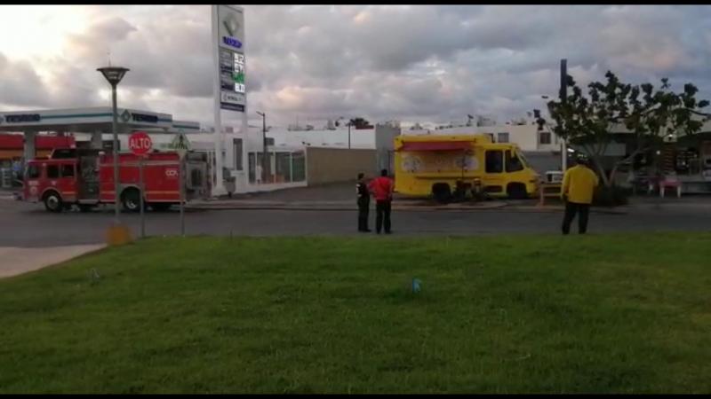 Fuga de gas en camión de comida genera movilización