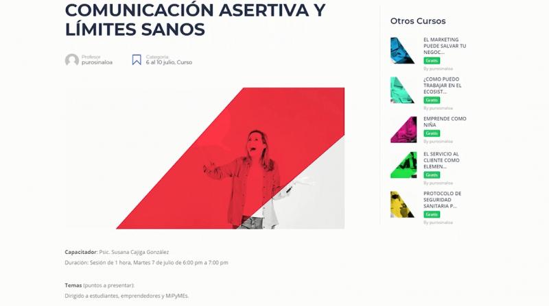 """""""Webinar Puro Sinaloa"""" va por su semana 16 cursos en línea"""