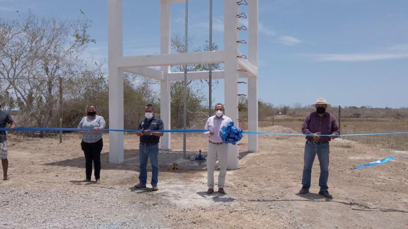 Inauguran tanque elevado de agua potable en Las Garzas