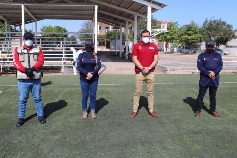 Arranca semana de sanitizacion en espacios deportivos en Culiacán