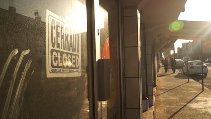 Alrededor de mil negocios del primer cuadro están cerrados