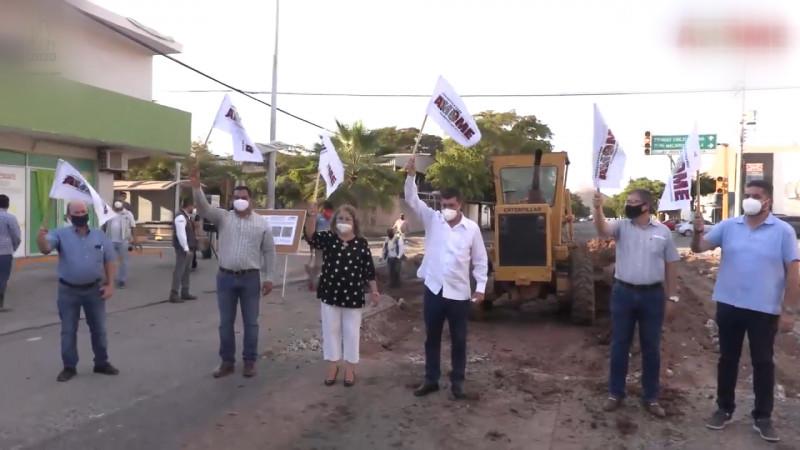 Arrancan obras de pavimentación en Los Mochis