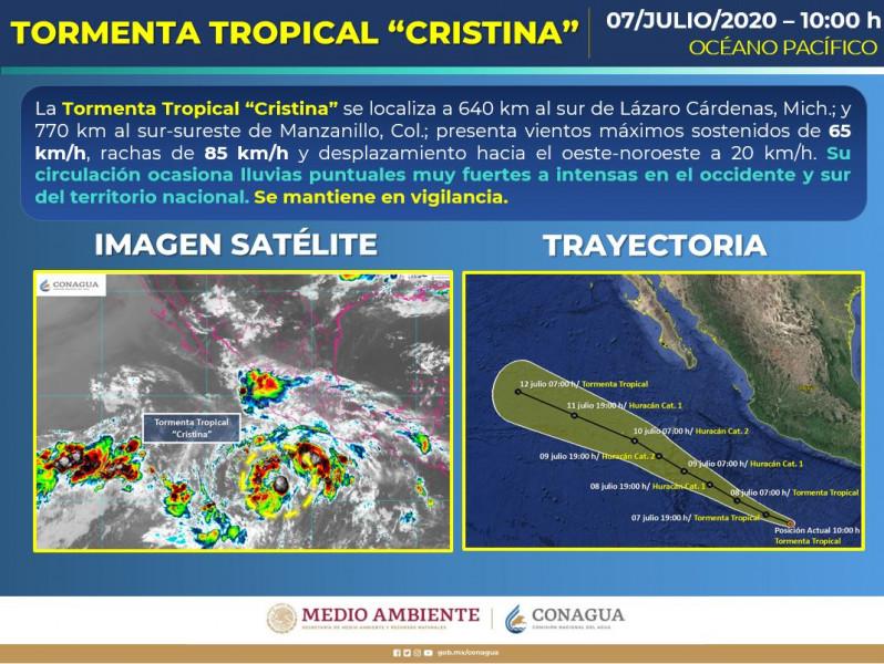 """Tormenta tropical """"Cristina"""" en el Pacífico"""