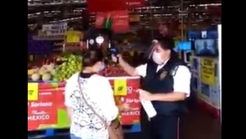 Video: mujer asegura que los termómetros de supermercado matan las neuronas de la gente
