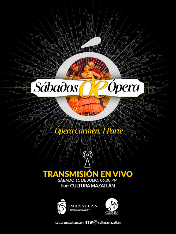 "Este sábado presentarán ópera ""Carmen"""