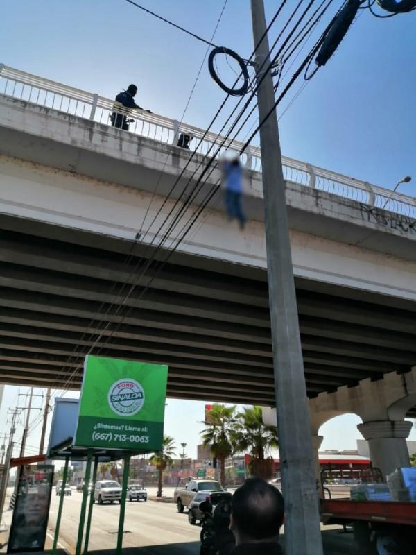 Salvan Policías Municipales a persona que intentó arrojarse  de puente